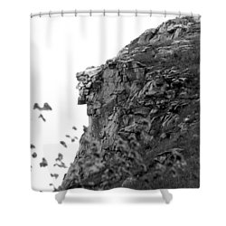 Old Man In The Mountain Shower Curtain