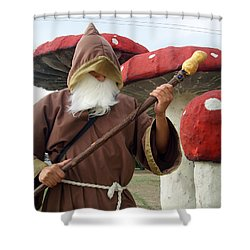 Old Man In Wonderland Shower Curtain