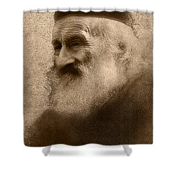 Old Man Of The Mountain Shower Curtain by Ron Jones