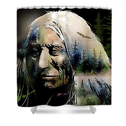Old Man Of The Woods Shower Curtain by Paul Sachtleben