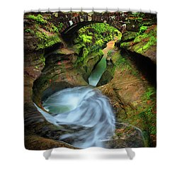 Devil's Bathtub Shower Curtain
