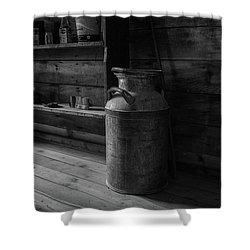 Old Milk Can Shower Curtain