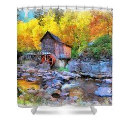 Old Mill Aquarelle Shower Curtain