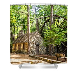Shower Curtain featuring the photograph Old Mill At Berry College by Michael Sussman