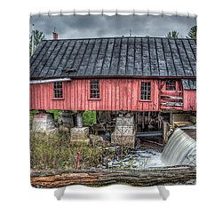 Old Mill Boards Shower Curtain by Richard Bean