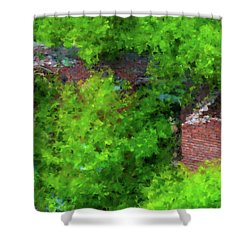 Old Mill Building In Lawrence Massachusetts Shower Curtain