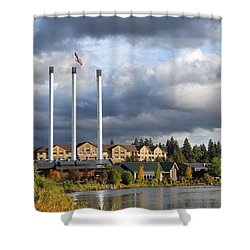 Old Mill District Shower Curtain