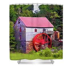 Old Mill Of Guilford Painted Square Shower Curtain