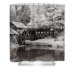 Old Mill On The Mountain Shower Curtain