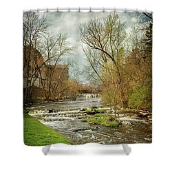 Old Mill On The River Shower Curtain