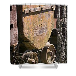Old Mining Car Shower Curtain by Phyllis Denton