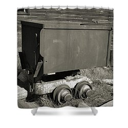 Old Mining Cart Shower Curtain by Richard Rizzo