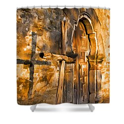 Old Mission Cross Shower Curtain