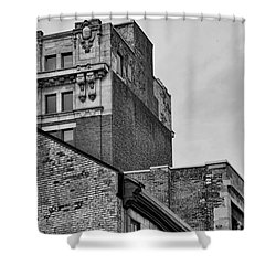 Old Montreal Buildings  Shower Curtain