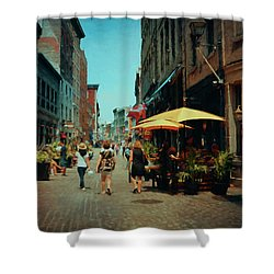 Old Montreal - Quebec Shower Curtain