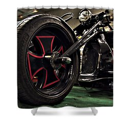 Old Motorbike Shower Curtain by Tamara Sushko