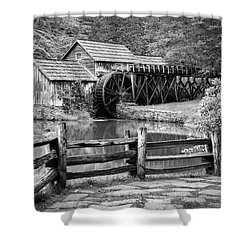 Old Mountain Morning Shower Curtain