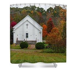 Old New England Church Shower Curtain
