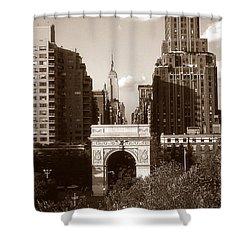 Washington Arch And New York University Shower Curtain