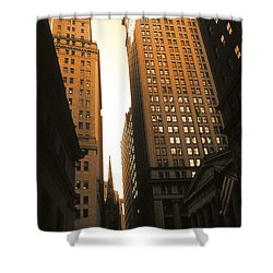 Old New York Wall Street Shower Curtain