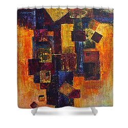 Old News Shower Curtain by Cindy Johnston