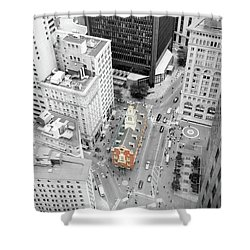 Shower Curtain featuring the photograph Old State House by Greg Fortier