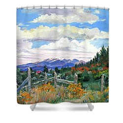 Old North Fence-in Colorado Shower Curtain