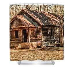 Old One Room School House Shower Curtain by Phillip Burrow