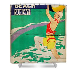 Old Orchard Beach - Folded Shower Curtain