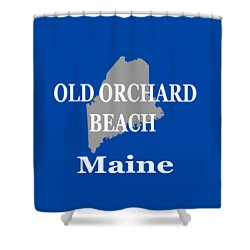 Shower Curtain featuring the photograph Old Orchard Beach Maine State City And Town Pride  by Keith Webber Jr
