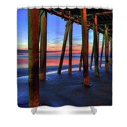 Shower Curtain featuring the photograph Old Orchard Beach Pier -maine Coastal Art by Joann Vitali