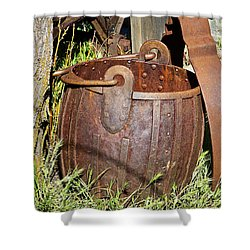 Old Ore Bucket Shower Curtain by Phyllis Denton