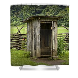 Old Outhouse On A Farm In The Smokey Mountains Shower Curtain