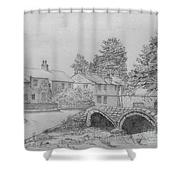 Old Packhorse Bridge Wycoller Shower Curtain by Anthony Lyon
