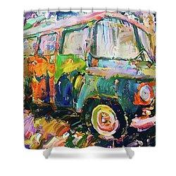 Old Paint Car Shower Curtain