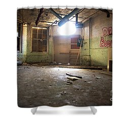 Shower Curtain featuring the photograph Old Paint Shop by Randall Cogle