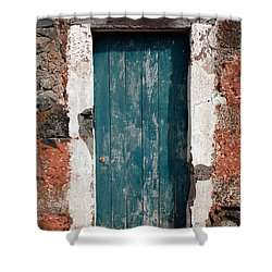 Old Painted Door Shower Curtain by Gaspar Avila
