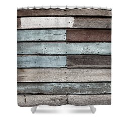 Shower Curtain featuring the photograph Old Pale Wood Wall by Jingjits Photography