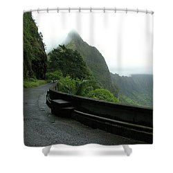Shower Curtain featuring the photograph Old Pali Road, Oahu, Hawaii by Mark Czerniec