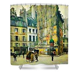Old Paris Shower Curtain by Vincent Monozlay