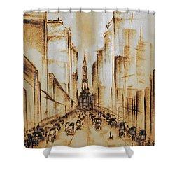 Old Philadelphia City Hall 1920 Shower Curtain