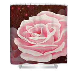 Old Pink Rose Shower Curtain