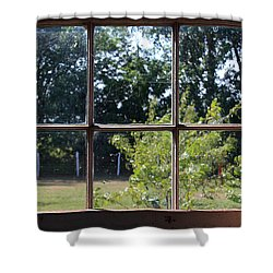 Shower Curtain featuring the photograph Old Pitted Glass Window by Joanne Coyle