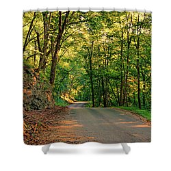 Shower Curtain featuring the photograph Old Plank Road by Cricket Hackmann