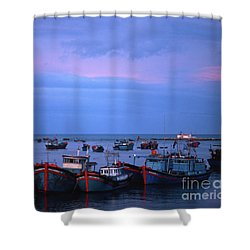 Old Port Of Nha Trang In Vietnam Shower Curtain