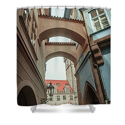 Shower Curtain featuring the photograph Old Prague Architecture 1 by Jenny Rainbow