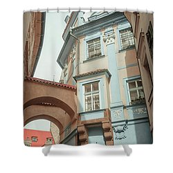Shower Curtain featuring the photograph Old Prague Architecture by Jenny Rainbow