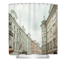Shower Curtain featuring the photograph Old Prague Buildings. Staromestska Square by Jenny Rainbow