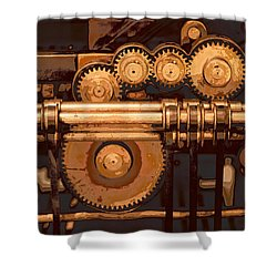 Old Printing Press Shower Curtain
