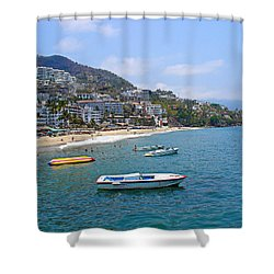 Old Puerto Vallarta  Shower Curtain